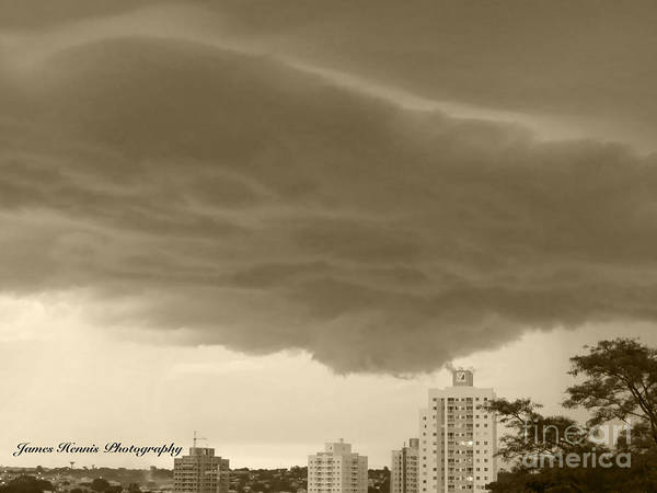 Photograph - Cloud Attacks Building by James Hennis