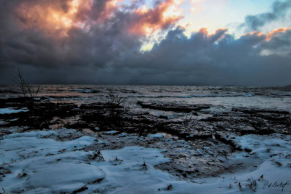 Great Lakes Region Wall Art - Photograph - Cloud Bank At Sunset by Phill Doherty