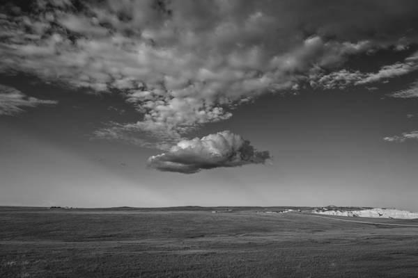 Wall Art - Photograph - Cloud Bank At The Badlands by Thomas Young