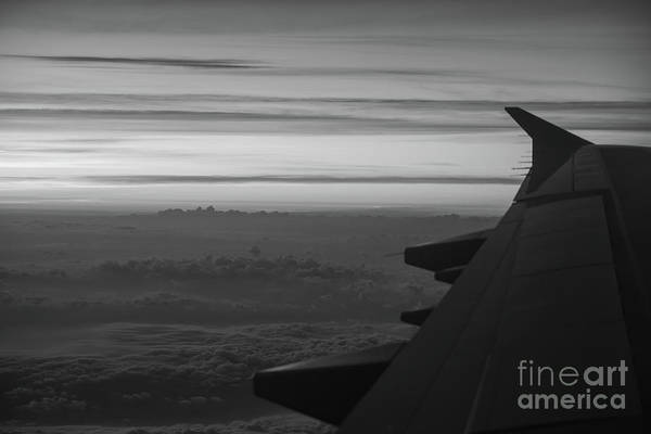 Delta Wing Photograph - Cloud City Bw by Michael Ver Sprill