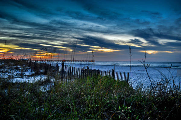 Photograph - Cloud Covered Sunrise by Michael Thomas