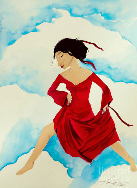 Wall Art - Painting - Cloud Dancing Of The Sky Warrior by Jean Fry