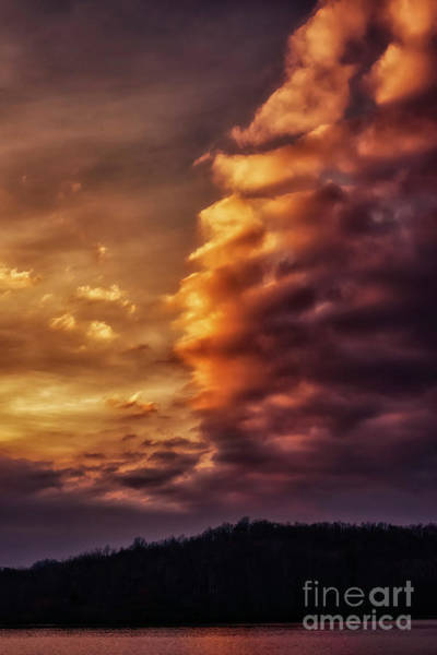 Photograph - Cloud Drama At Sunset by Thomas R Fletcher