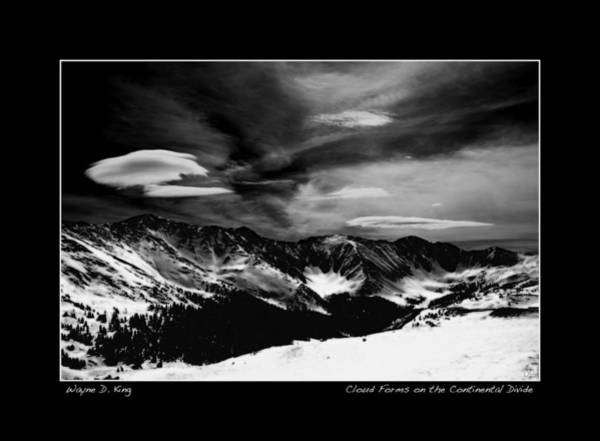 Photograph - Cloud Forms On The Continental Divide Poster by Wayne King