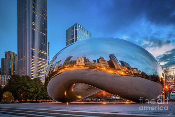 Chicago Skyline Art Photograph - Cloud Gate 5 by Inge Johnsson