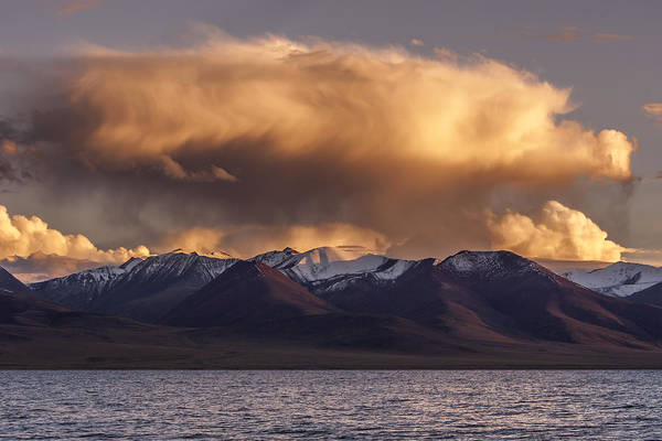 Cloud Over Namtso Art Print