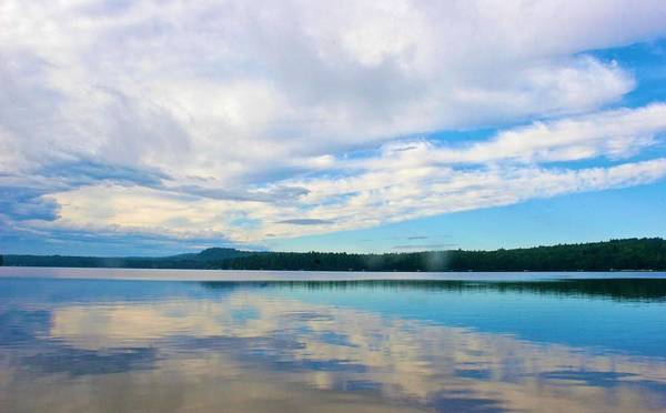 Photograph - Cloud Reflection On Long Lake by Polly Castor