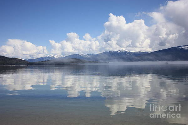 Priest Lake Photograph - Cloud Reflection On Priest Lake by Carol Groenen