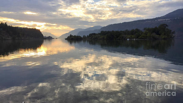 Photograph - Cloud Reflections In Hood River by Charlene Mitchell