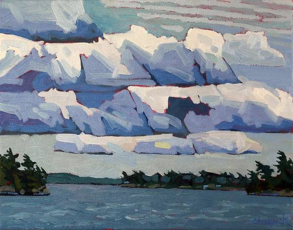 Stratocumulus Painting - Cloud Signs by Phil Chadwick