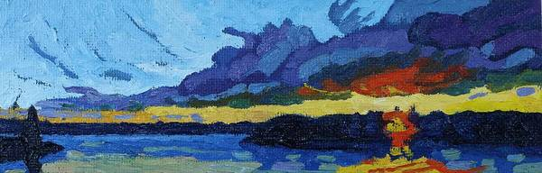 Stratocumulus Painting - Cloud Street Sunset by Phil Chadwick