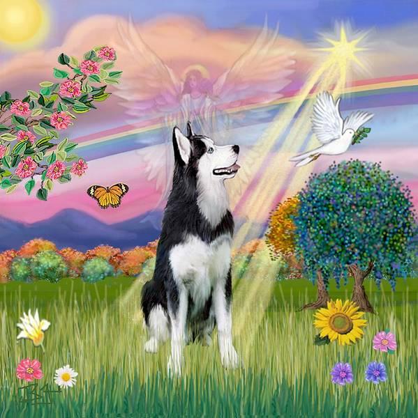 Cloudangel #1 - Siberian Husky Art Print
