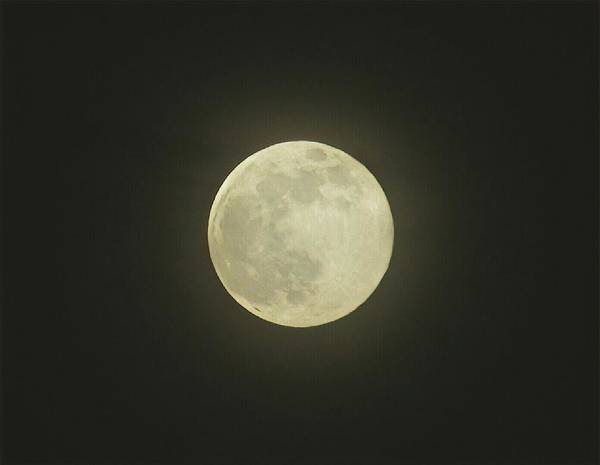 Photograph - Clouded Full Moon by Robert Knight