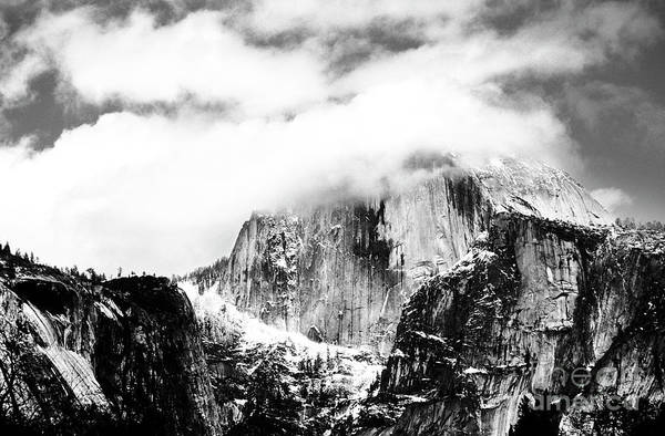 Photograph - Clouded Half Dome by Charmian Vistaunet