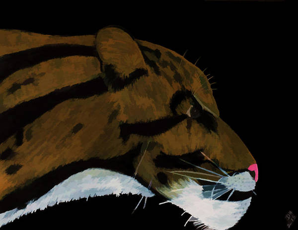 Painting - Clouded Leopard by D Hackett
