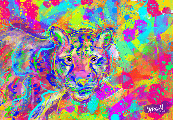 Indonesia Digital Art - Clouded Leopard  by Morgan Richardson