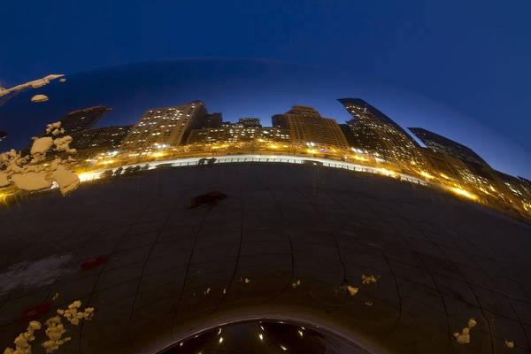 Photograph - Cloudgate At Twilight by Sven Brogren