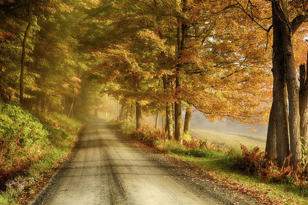 Cloudland Road In Vermont Art Print