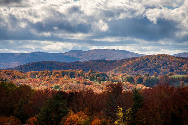 Cloudland Road Vermont Fall Foliage Art Print