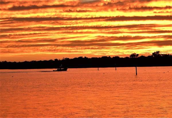Sunset Wall Art - Photograph - Clouds Ablaze by Ric Schafer