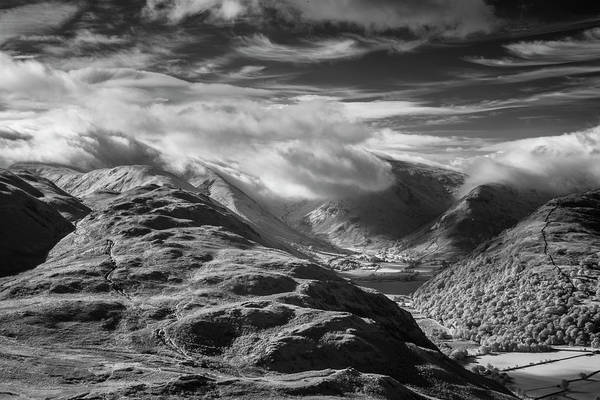Glenridding Wall Art - Photograph - Clouds Above Brothers Water by Chris Rafferty