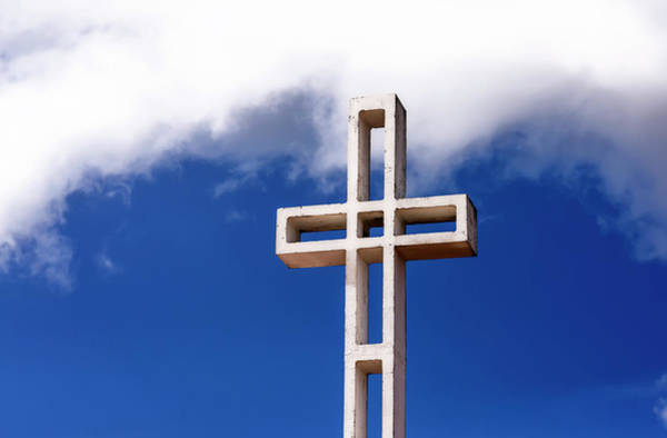 Mount Soledad Wall Art - Photograph - Clouds Above The Cross by Joseph S Giacalone
