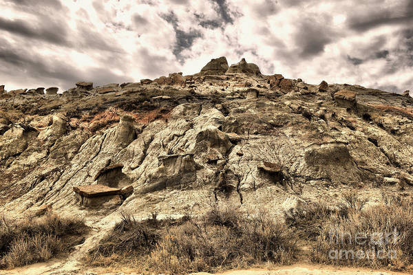North Dakota Badlands Wall Art - Photograph - Clouds And Badlands by Jeff Swan