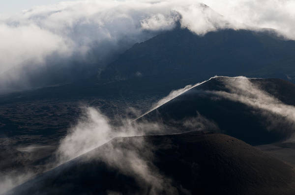 Photograph - Clouds And Cinder Cones by Robert Potts