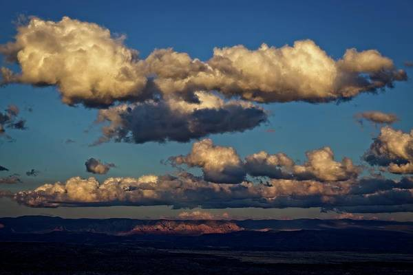 Photograph - Clouds And Red Rocks Hdr by Ron Chilston