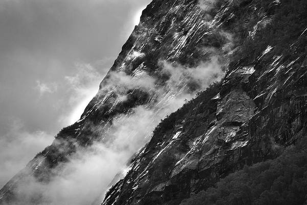 Photograph - Clouds And Rock Formation by David Resnikoff