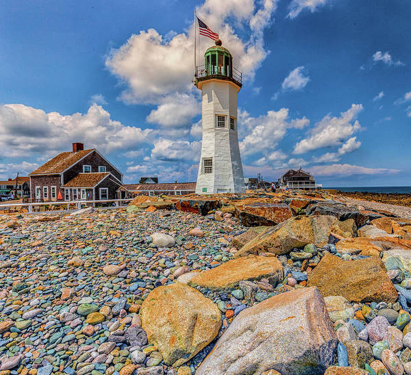 Photograph - Clouds At Scituate Lighthouse by Brian MacLean