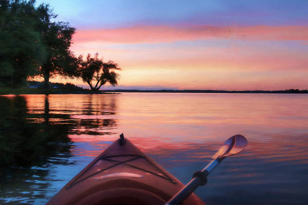 Kayak Photograph - Clouds Come Floating by Lori Deiter