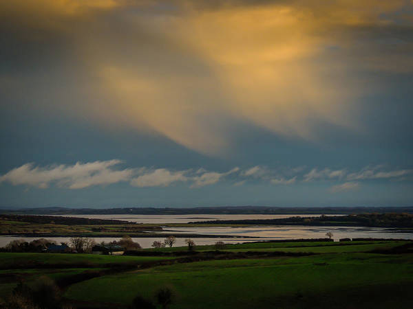 Photograph - Clouds Dance At Sunset In Ireland's County Clare by James Truett