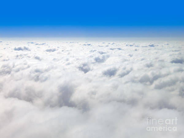 Wall Art - Photograph - Clouds From Above And Blue Sky Horizon by Paul Velgos