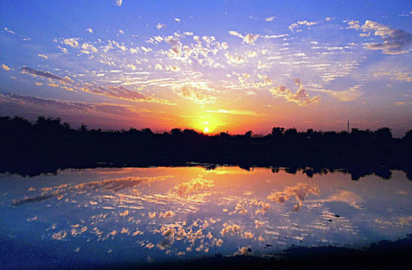 Photograph - Clouds In River by Atullya N Srivastava
