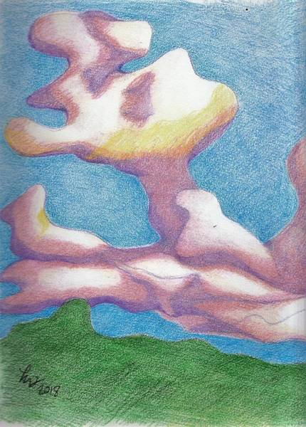 Drawing - Clouds by Loretta Nash