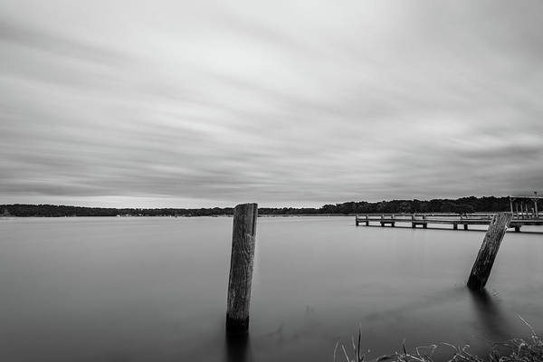 Photograph - Clouds Moving Over Lake Long Exposure by Todd Aaron