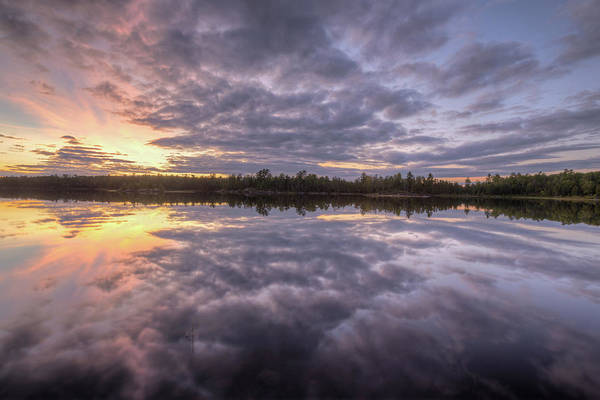 Photograph - Kawishiwi River Sunset Refletion, Boundayt Watery Minnesota by Paul Schultz