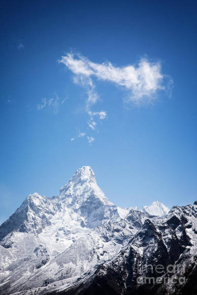 Photograph - Clouds Over Ama Dablam by Scott Kemper