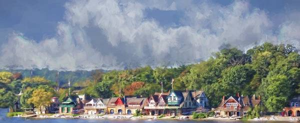 Photograph - Clouds Over Boathouse Row by Alice Gipson