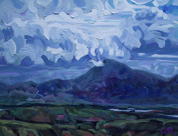 Painting - Clouds Over Croagh Patrick From Oghille Path Mayo Ireland by Catherine Considine