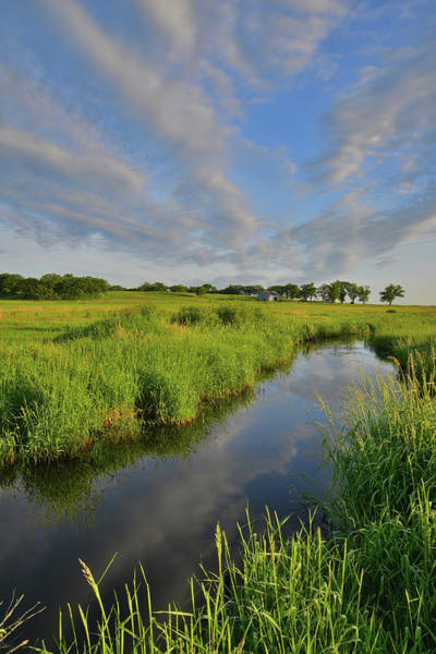 Photograph - Clouds Over Glacial Park Reflected In Wetland by Ray Mathis