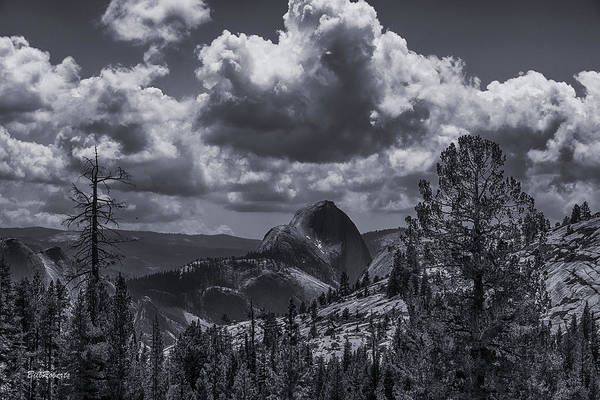 Point Of View Wall Art - Photograph - Clouds Over Half Dome by Bill Roberts