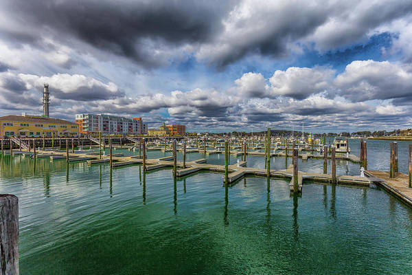 Photograph - Clouds Over Hingham Shipyard by Brian MacLean
