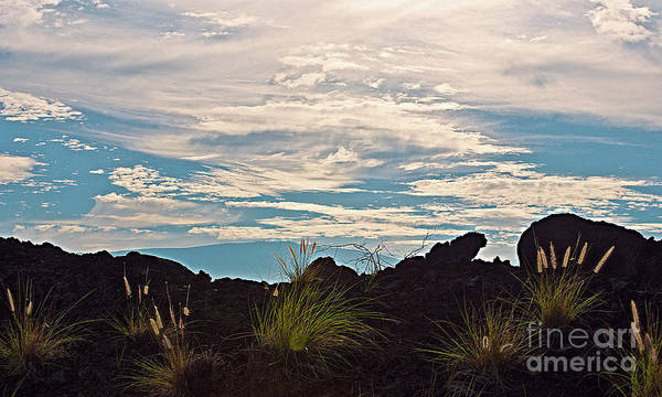 Clouds Over Mauna Kea Art Print