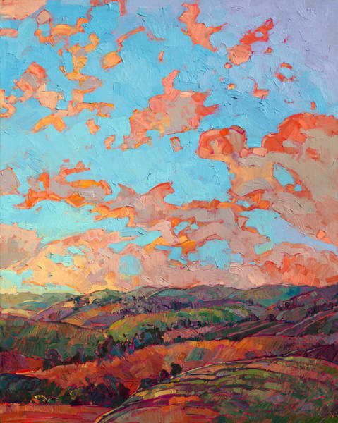 Wine Country Painting - Clouds Over Paso II by Erin Hanson