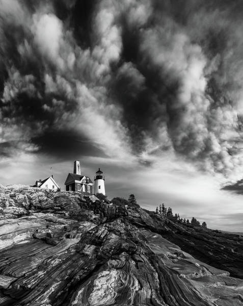 East Point Photograph - Clouds Over Pemaquid Lighthouse by Darren White