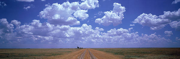 Expanse Photograph - Clouds Over Prairie Amarillo Tx by Panoramic Images
