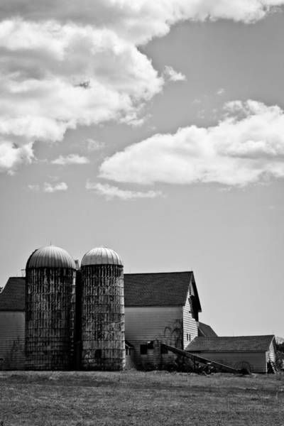 Timeworn Photograph - Clouds Over Silos by Colleen Kammerer