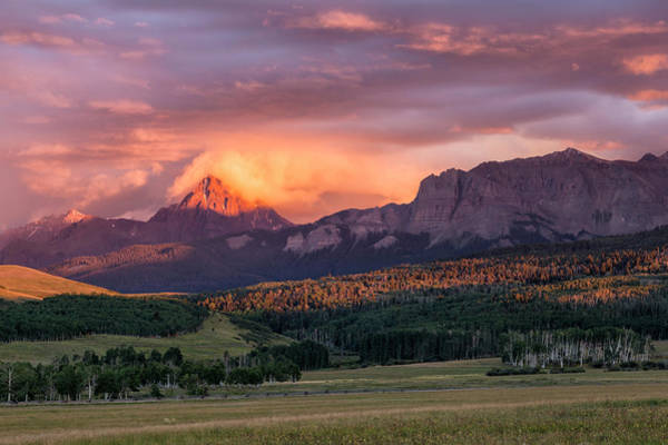 Photograph - Clouds Over Sneffels At Sunset by Denise Bush